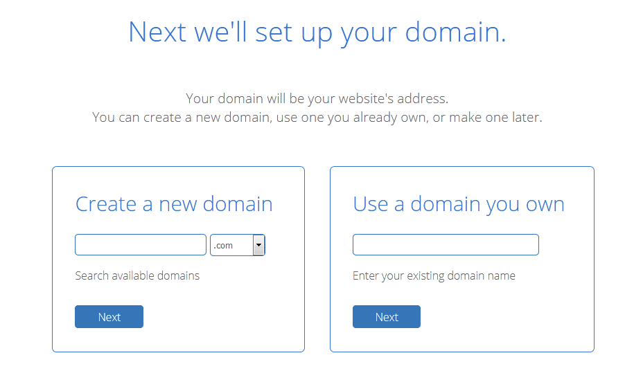 Choose domain name for your blog Bluehost