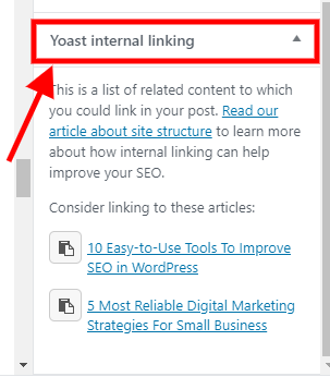 Internally link to other posts/pages